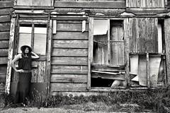 Old barn (wimkappers) Tags: blackwhitephotos bnw monochrome oldbarn barn people model abandoned decay