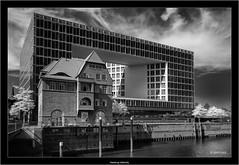 Hamburg Hafencity (Dierk Topp) Tags: bw hh ir sonya7rir architecture hamburg infrared monochrom sw sony sony1635mmvariotessartfef4zaoss
