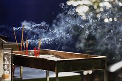 Incense (Thomas Mülchi) Tags: 2018 bpg bangrakdistrict bangkok bangkokphotographersgroup samyancommunityphotowalk thailand wat wathualamphong buddhism buddhisttemple temple incense smoke burning krungthepmahanakhon th