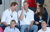 Prince Harry, Prince William, Duke of Cambridge and Catherine, Duchess of Cambridge watch Scotland Play Wales at Hockey at the Glasgow National Hockey Centre during the 20th Commonwealth games on July 28, 2014 in Glasgow, Scotland. (Photo by Chris Jackson/Getty Images)