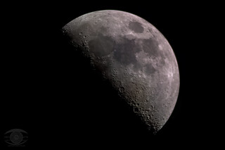 46% Waxing Moon - 30 Panel Pano