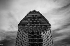 Seattle Municipal Tower (MikeWeinhold) Tags: seattle seattlemunicipaltower skyscrsper architecture building blackandwhite 6d 35mm
