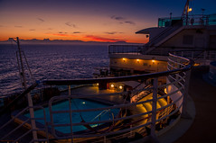 Late night coctails (Tony Shertila) Tags: pool spain africa atlantic azura bar coast cruise cruiseship deck dock europe gibralta holiday morocco outdoor passenger people port ship straits sunset tourist transport vacation