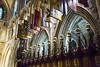 18FEB26 SLYNNLEE-6050 (Suni Lynn Lee) Tags: dublin saintpatrickscathedral stpatrick saint patrick cathedral gothic choir stained galss window flags arches catholic church