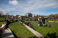 #POP2018  (173 of 230) (Philip Gillespie) Tags: pedal parliament pop pop18 pop2018 scotland edinburgh rally demonstration protest safer cycling canon 5dsr men women man woman kids children boys girls cycles bikes trikes fun feet hands heads swimming water wet urban colour red green yellow blue purple sun sky park clouds rain sunny high visibility wheels spokes police happy waving smiling road street helmets safety splash dogs people crowd group nature outdoors outside banners pool pond lake grass trees talking bike building sport
