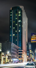 intercontinental vertical (pbo31) Tags: bayarea california nikon d810 color may 2018 spring boury pbo31 sanfrancisco city urban night dark black lightstream traffic motion roadway soma howardstreet hotel infinity panoramic large stitched panorama