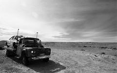 1294 (The Dent.) Tags: kodakhawkeyesurveillancefilm south australia coober pedy tmx dev 19 10 mins 2485 analogphotography nikon f100 24mm red filter desert outback wreckage
