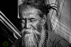 Holy man (Joy lens) Tags: india holy man sadhu indian festival gangasagar culture black white