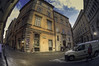 The Piazza dis. Chiara (C@mera M@n) Tags: city cobblestones italy people rome urban fisheye outdoors piazzadischiara vacation