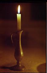 The Lamp. (Juansette) Tags: 35mm nikon f100 lampara vela fuego oscuridad