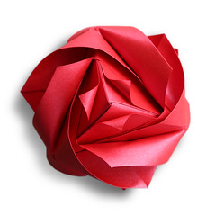Royal Rose Cube (Maria Sinayskaya) (EZ Origami) Tags: origami royal rose cube kusudama modular paper art craft folding paperart papercraft paperfolding stardream mothers day flower sonobe