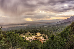moody sky above temple (andy_8357) Tags: landscape outdoors stunning spectacular clouds sky rain sheet sheets sunrays sun beams san luis valley crestone sangdo palri temple buddhist buddhism tibetan sony a6000 ilcenex ilce6000 6000 mirrorless sel1650 1650mm lens oss moody dramatic overcast vast open space sangre de cristo mountains e pz f3556 emount mount selp1650 cloudsstormssunsetssunrises csss