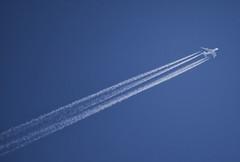 A380 (Svendborgphoto) Tags: airbus a380 korean contrail sky aircraft airliner plane jet nikkor aisnikkor reflexnikkor sonya7ii sonyalpha mirrorlens 500mm