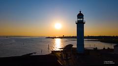 Sunset  Hellevoetsluis (Peet de Rouw) Tags: hellevoetsluis vesting haven port lighthouse vuurtoren haringvliet drone djimavicproplatinum sunset holland peetderouw