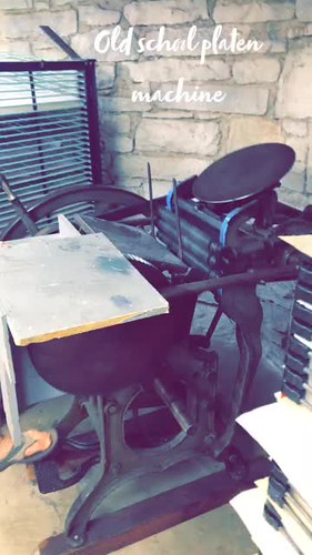 Video - old school platen machine