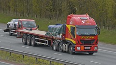 NU14 XHY (panmanstan) Tags: iveco stralis hiway wagon truck lorry commercial flatbed freight transport haulage vehicle a1m fairburn yorkshire
