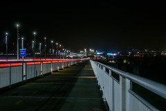 eastern span riser (pbo31) Tags: oakland eastbay alamedacounty baybridge 80 bridge night black may 2018 spring boury pbo31 nikon d810 color lightstream motion traffic roadway highway infinity pedestrian bike path sas easternspan over prescott portofoakland