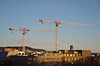 The cranes again (-Kj.) Tags: oslo officeview crane afternoon lowsun