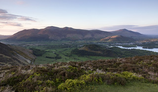 Skiddaw and Keswick, Lake District National Park, Cumbria, UK