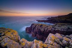 Cliffs of Aberdeen during sunset. (frodekoppang) Tags: scotland landscape laowa75mm olympusomdem1markii olympus sea cliffs ocean longexposure leefilter ultrawideangel aberdeen aberdeenshire
