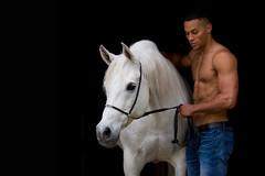 Shakira_OS182179 (OliverSeitz) Tags: vollblutaraber mann nackt halbnackt man horse arabian hot