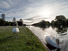 Clumber parks wildlife. (S.K.1963) Tags: elements clumber park nottingham england lake sky trees swans landscape olympus omd em1 mkii 7 14mm 28 pro