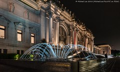 Night at the Museum (20180512-DSC06310-Edit) (Michael.Lee.Pics.NYC) Tags: newyork metropolitanmuseumofart fountain night architecture fifthavenue museum art sony a7rm2 zeissloxia21mmf28