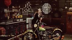 Paradise by the Dashboard Light (Greeneyed System) Tags: secondlife sl biker bike gay garage cafe bar pub retro vintage industrial repairshop service rusty metal men maleavatars boho