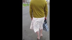 Video: - Blackpool on the prom (janegeetgirl2) Tags: transvestite crossdresser crossdressing tgirl tv ts blackpool stockings heels nylons glamour walking summer dress jane gee video outside promenade