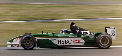 Mark Webber - Jaguar  R4 at Luffield