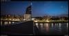 Liege - night (Falcdragon) Tags: zeissloxia2821 ultrawide landscape cityscape sonya7riialpha night liege belgium liège luik city urban architecture river meuse panorama guillemins
