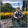 Traditional Bagpiper plays to Edinburgh Tourists (FotoFling Scotland) Tags: piper kilt bagpipe male edinburgh