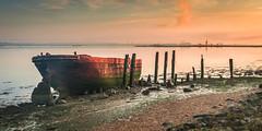 Wreck sunrise (Nathan J Hammonds) Tags: river medway kent uk country park wreck boat seascape landscape sunrise hdr nikon d750 water tide sky industry