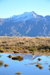 Reflections (Simon_sees) Tags: wanaka newzealand reflection water puddle untouched nature sightseeing offroad scenery snow mountains middleearth landscape