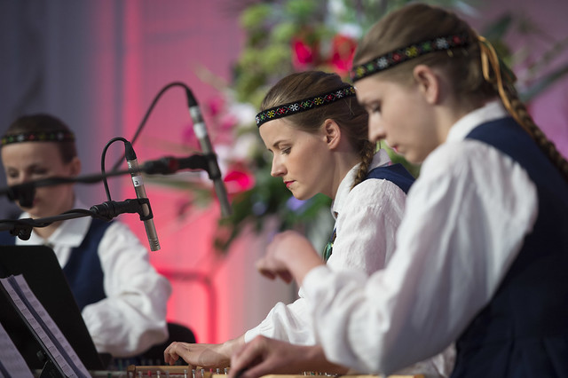 Musicians performing at the Latvian Presidency Reception