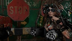 Miss Post-Apocalyptic Hottie Runner Up (tralala.loordes) Tags: tralalaloordes tralala tralalasdiner diner postapocalypse apocalypse photoop sim secondlife virtualreality avatar beautycontest women beauties dirt junk mud rust destruction mesh rocketboobs lindenlabs firestorm sl alternate scrapmetal weaponsofmassdistraction metatheodora spaceengineer pinelake hottie beautifulgirl flickrunitedaward
