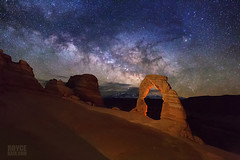 "Milky Way over Delicate Arch (IronRodArt - Royce Bair (""Star Shooter"")) Tags: milkyway archesnationalpark arches moab nightscape nightscapes starrynightsky starrynight starry universe lowlevellighting lll utah"