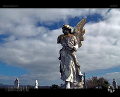 Weathered Angel (tomraven) Tags: angel graveyard cemetary statue clouds sky sun detail aravenimage headstones q22018 tomraven sigma quattroh