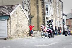 Pursued by the press (barronr) Tags: england knaresborough rkabworks tourdeyorkshire yorkshire bathgatephotographer cycling cyclists motorbike press race tv women