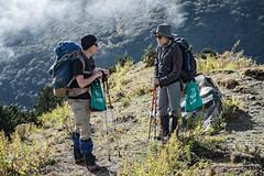 Trekkers break on the way to the Gombu La pass - Thimphu District - Snowman Trek - Bhutan (PascalBo) Tags: nikon d500 asie asia southasia asiedusud drukyul drukgyalkhap bhutan bhoutan འབྲུག་ཡུལ། འབྲུག་རྒྱལ་ཁབ་ snowman trek trekking hike hiking lunana thimphu himalaya himalayas jigmedorjinationalpark trekker trail sentier outdoor outdoors pascalboegli