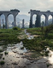 """""""Dangerous Bridge"""" (alt) (Omegapepper) Tags: wallpaper screenshot real realistic wot world tanks digital photography photomode photostitch gaming games videogame landscape water nvidia atmosphere atmospheric"""