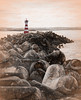 Lighthouse Selective (beelzebub2011) Tags: portugal peniche lighthouse breakwater bw monochrome selectivecolor