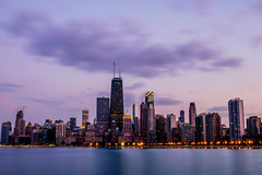 Chicago Skyline Sunset (Joshua Mellin) Tags: purple skyline chicago secondcity chicagoskyline joshuamellin photographer photography photo photos pics pictures picture pic pink may summer 2018 northavenuebeach northavenue beach view instagram best blogger travel writer journalist long exposure longexposure evening nightphotography night sunset building blue light perfect beautiful slow iconic ad advertising tourism airline airliners company commercial jdmellingmailcom sky sad melancholy dusk blinking lights city lakemichigan lake horizon full large big drake old retro new cheshire skies spring twilight google image search