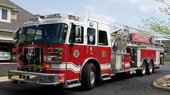 Ladder 91 (Central Ohio Emergency Response) Tags: washington township ohio fire division department sutphen truck tower ladder platform quint