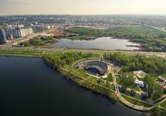Minsk (free3yourmind) Tags: minsk drone quadcopter xiaomi mi aerial belarus park lake river