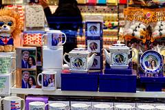 Teapot Anyone? (Geoff Henson) Tags: teapot mug teacaddy teabags plate tea wedding royal harry meghan shop window souvenir junk tat