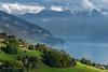 Thunersee from Sigriswil (Hans van Bockel) Tags: hansvanbockel d7200 nikon sigriswil zwitserland bern ch switzerland schweiz thunersee meer thun lake 1680mm vakantie licht avondlicht groen alpen almen bergen mountains water