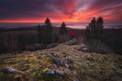watching the sunrise (Alexander Lauterbach Photography) Tags: kassel hessen nordhessen deutschland germany zierenberg dörnberg landscape nature sunrise sonnenaufgang sony lee