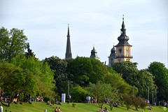View from Danube Park (petrOlly) Tags: europe europa austria österreich linz nature natura przyroda architecture architektura building buildings people sk2018 church catholicchurch