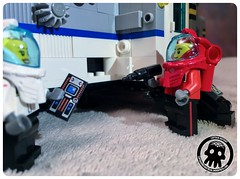 48-06 Opening the Maintenance Hatch (captainmutant) Tags: afol classic space lego ideas legospace legography photography minifig minifigs minifigure minifigures moc sciencefiction science fiction scifi exploration brickography toy custom